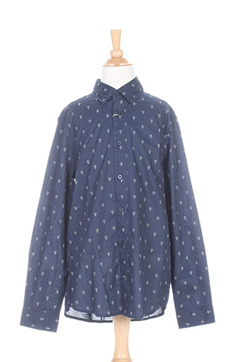 cyrillus chemises garçon de couleur bleu