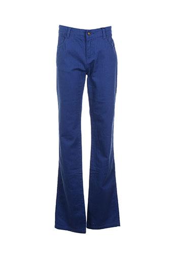 cyrillus pantalons garçon de couleur bleu