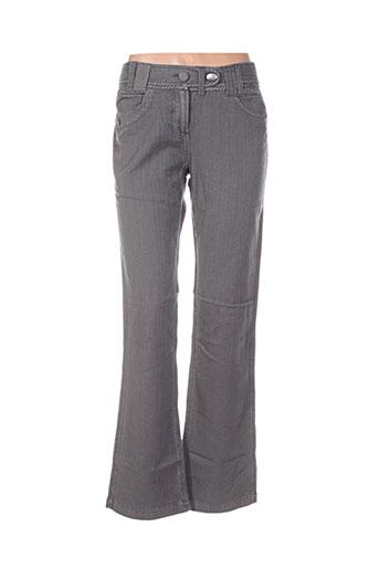 double one peace pantalons femme de couleur gris