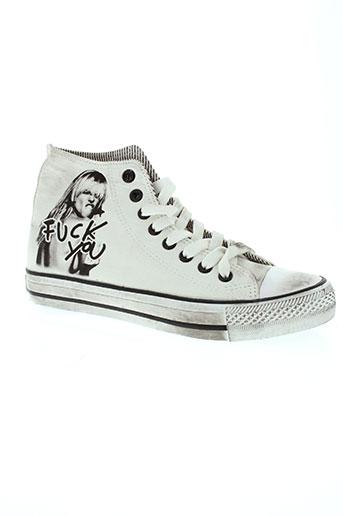 2 stars chaussures homme de couleur blanc
