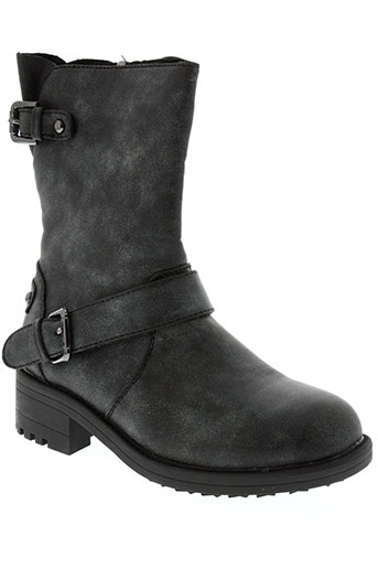 les et p et tites et bombes boots fille de couleur noir