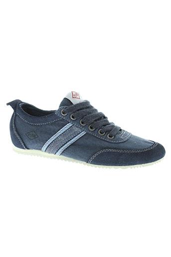 palladium chaussures garçon de couleur bleu