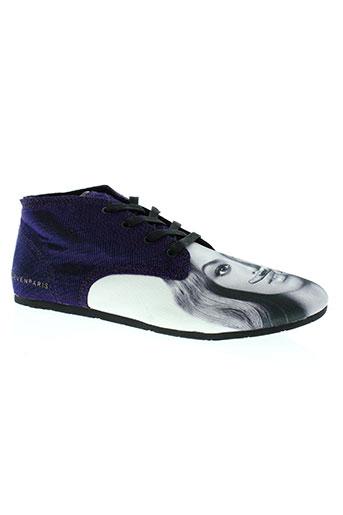 eleven paris chaussures femme de couleur violet