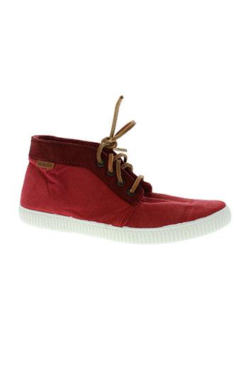 victoria chaussures garçon de couleur rouge