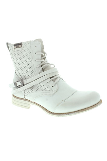 bunker boots femme de couleur blanc