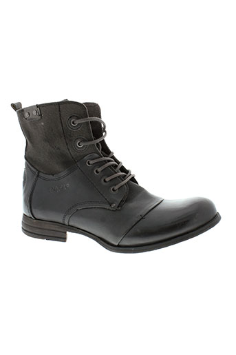 bunker boots femme de couleur gris