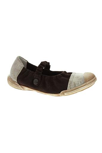 bellamy chaussures fille de couleur marron