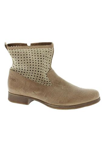 ramdam boots fille de couleur beige