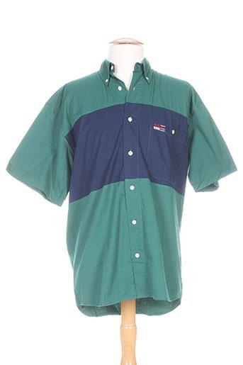 pionier chemises homme de couleur vert