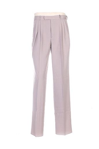 luc saint alban pantalons homme de couleur beige