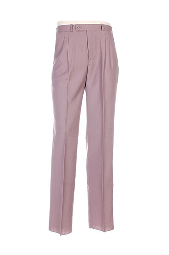 luc saint alban pantalons homme de couleur violet