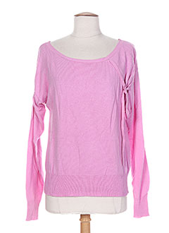Pull col rond rose DIABLESS pour femme