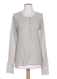 T-shirt manches longues gris DIABLESS pour femme