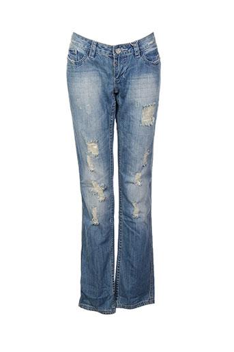 blue rags jeans femme de couleur bleu