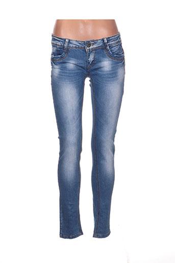 j.welly jeans jeans femme de couleur bleu