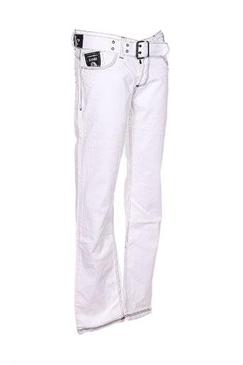 kingz jeans homme de couleur blanc