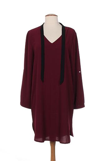 akoz robes femme de couleur rouge