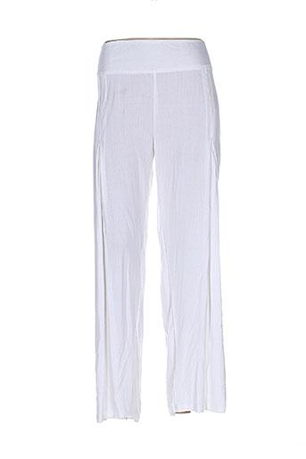 aller simplement pantalons femme de couleur blanc
