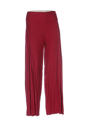 aller simplement pantalons femme de couleur rouge