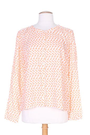 brandtex chemises femme de couleur orange