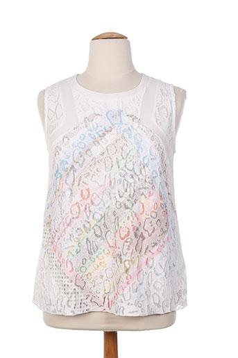 viccio barcelona chemises femme de couleur blanc