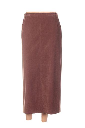 jean biolay jupes femme de couleur marron