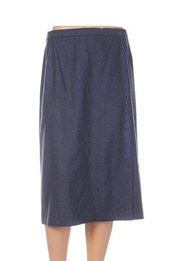 jean biolay jupes femme de couleur bleu