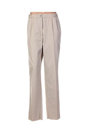 maryvet pantalons femme de couleur beige