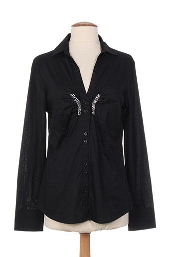 finette chemises femme de couleur noir