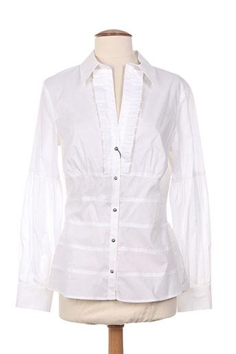 claudia gil chemises femme de couleur blanc