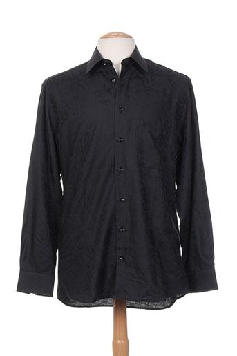 jean chatel chemises homme de couleur noir