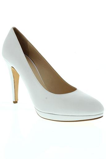 frenesia chaussures femme de couleur blanc