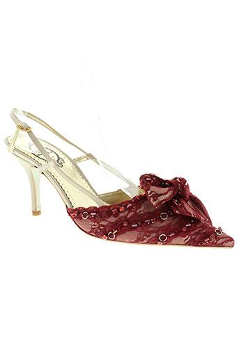 marian chaussures femme de couleur rouge