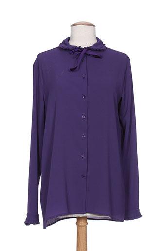 pois chemises femme de couleur violet