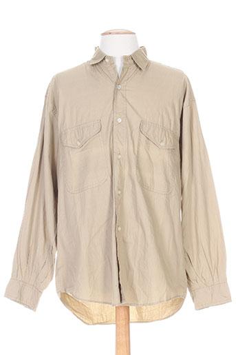 blumy chemises homme de couleur beige