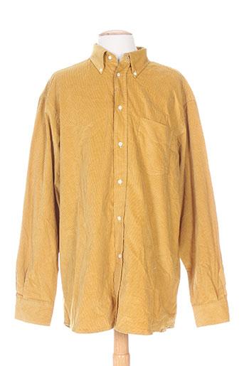 a cause des garçons chemises homme de couleur jaune