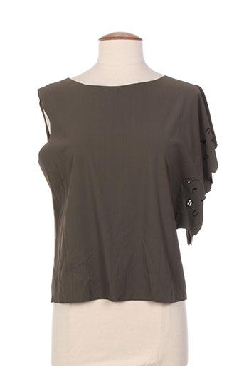 ecru t-shirts femme de couleur vert