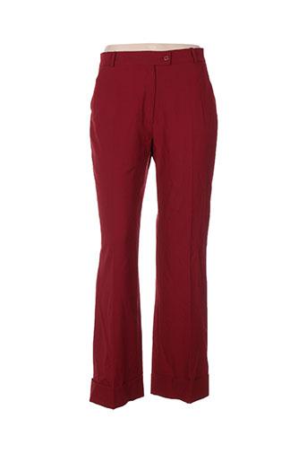 chiquita pantalons femme de couleur rouge