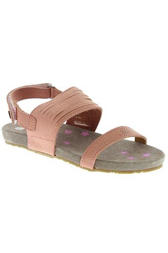 ikks sandales et nu et pieds fille de couleur rose