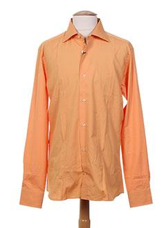Chemise manches longues orange FACIS pour homme