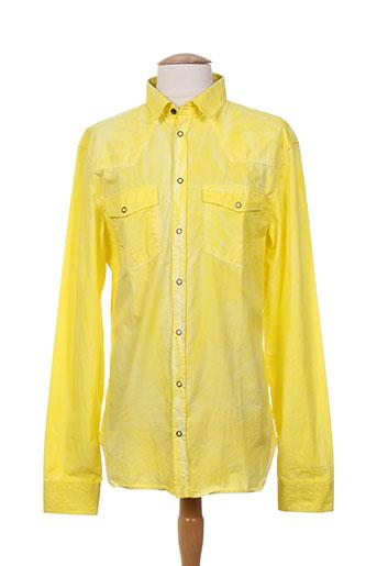 pierre balmain chemises homme de couleur jaune
