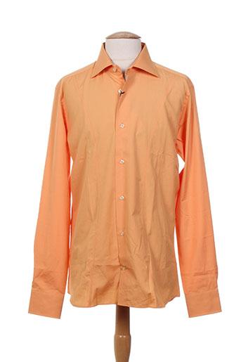 facis chemises homme de couleur orange
