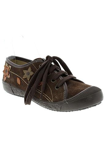 zapper's chaussures fille de couleur marron