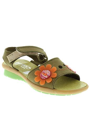 zapper's chaussures fille de couleur vert