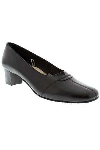 diane et carat escarpins femme de couleur noir