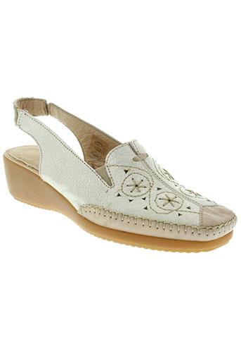 flexell chaussures femme de couleur beige