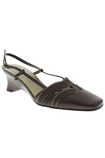 anne flavie chaussures femme de couleur marron