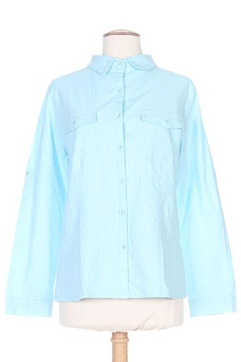 s.quise chemises femme de couleur bleu