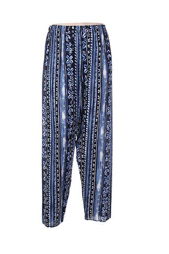 atlanta pantalons femme de couleur bleu