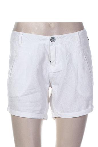 garcia shorts / bermudas femme de couleur blanc